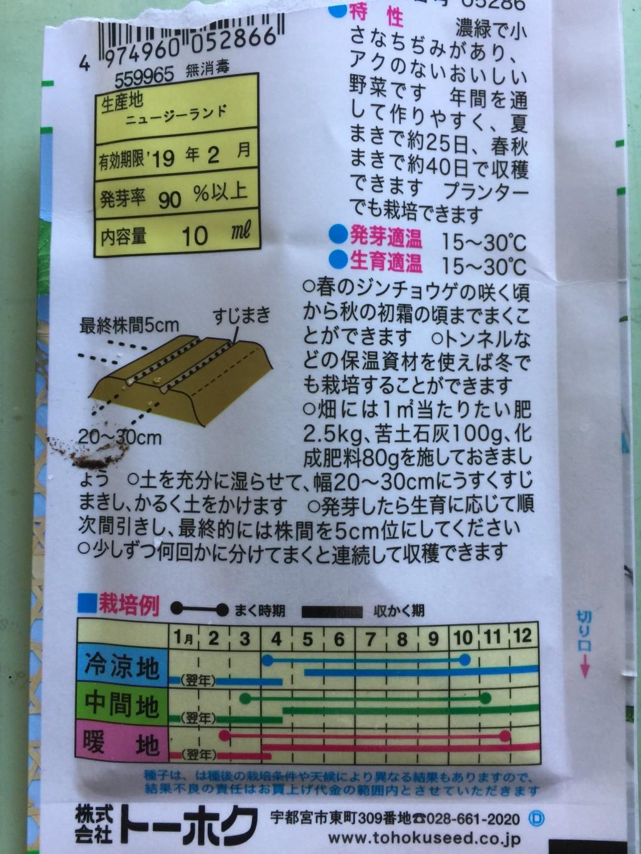 ビタミン菜 栽培例や特性
